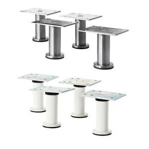 IKEA CAPITA 4er Set Edelstahlbeine Möbelbeine Küchenfüße 8-9cm ...