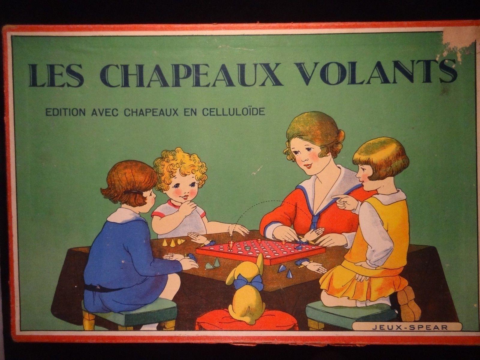 Noël Nouvel Nouvel Nouvel An, sortez vous-même RARE ancien jeu Les chapeaux VOLANTS Jeux-SPEAR cartonnage celluloïde 1920/30 058fb2