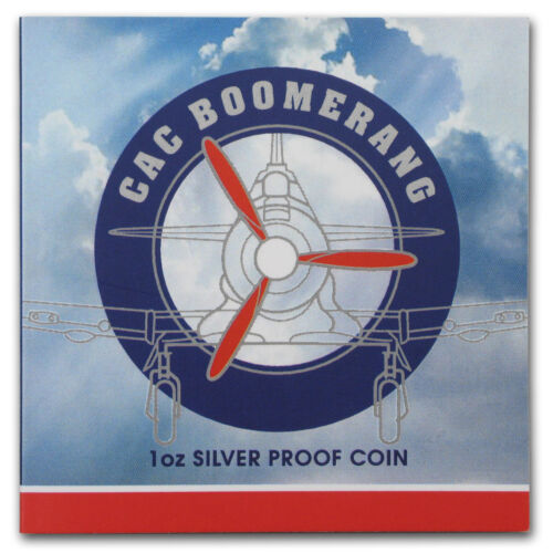 SKU#155001 2017 Niue 1 oz Silver Boomerang Fighter Plane Ultra High Relief