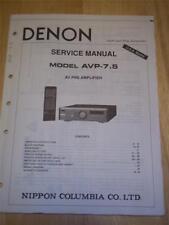 Denon Service Manual for AVP-7.5 Pre-Amplifier/Amp~Operation~Original~Repair