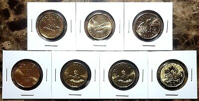 "CANADA THE COMPLETE /""LUCKY LOONIE/"" 1 DOLLAR SET 2004 TO 2016 UNC 7 COINS 1$"