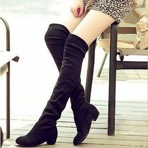 Sexy Winter Autumn Women Boots Ladies Fashion Flat Over Knee Long ... 3f75174d2e4c