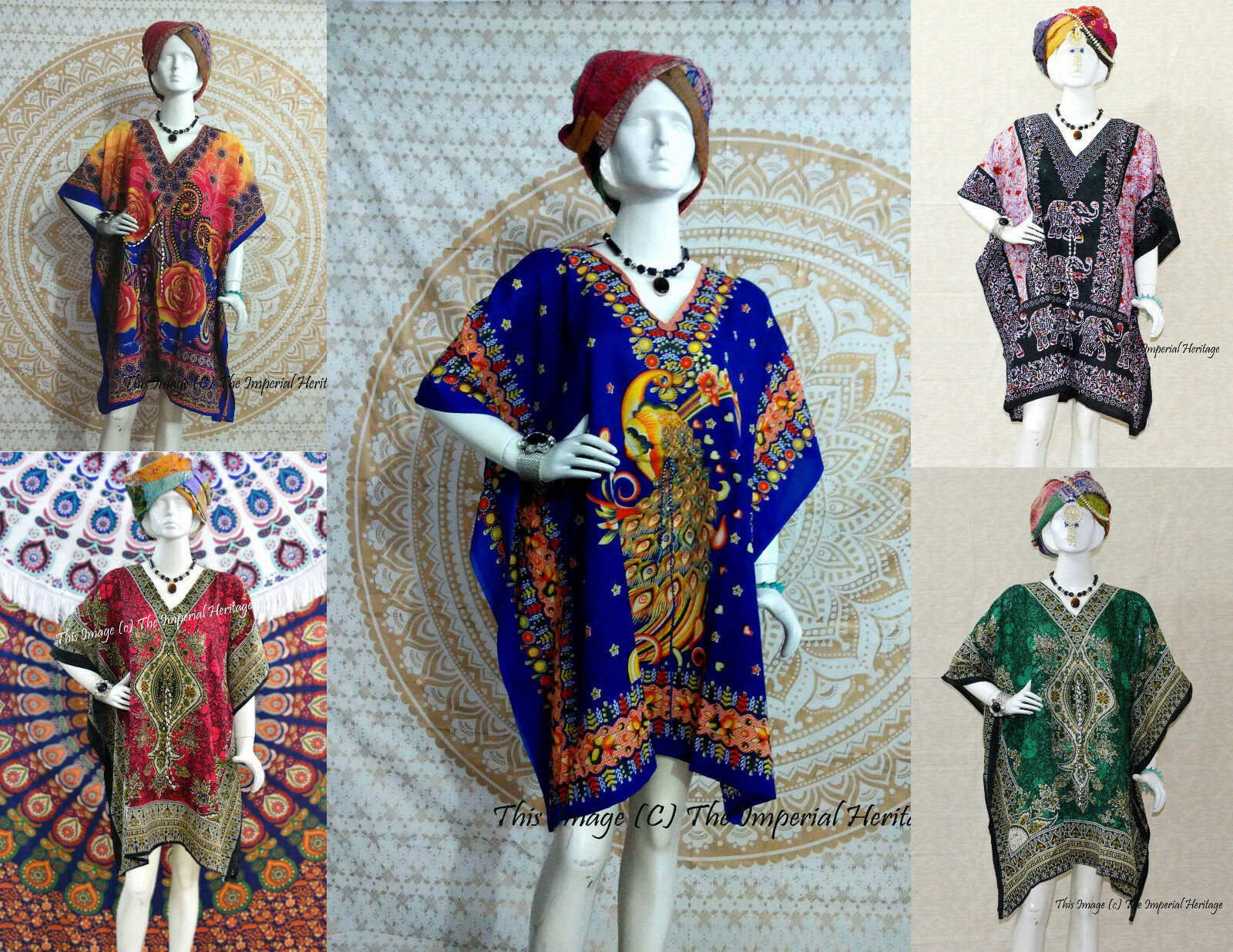 Wholesale Lot 10 Short Maxi Tunic Ethnic Kaftan Casual Women Evening Beach-Dress