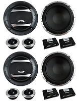 4) Boss Audio Pc65.2c 6.5 1000w Car 2 Way Component Speakers Audio Set Pc652c