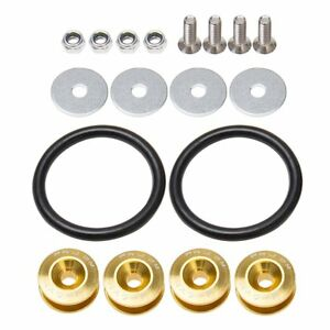 Universal Yellow Aluminum Quick Release Fasteners Kit for Bumper /& Trunk Hatch