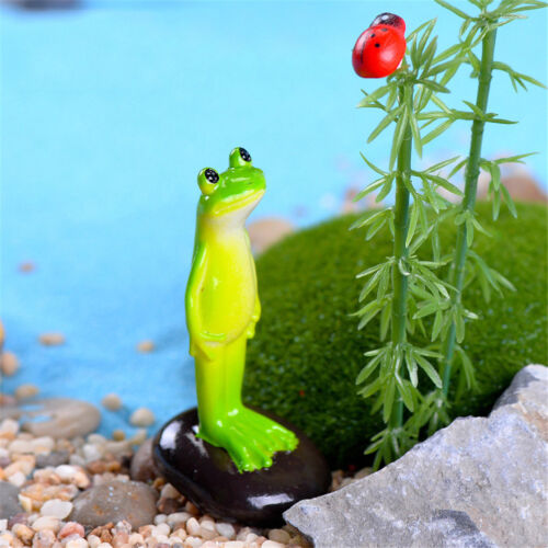 Standing Frog Miniature Fairy Gardens Decorations Craft Landscaping Accessory kc
