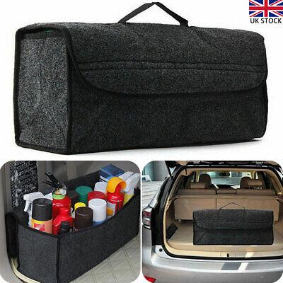 2PCS Car Boot Organizer Grey Large Velcro Carpet Storage Bag Tools Car Boot Tidy