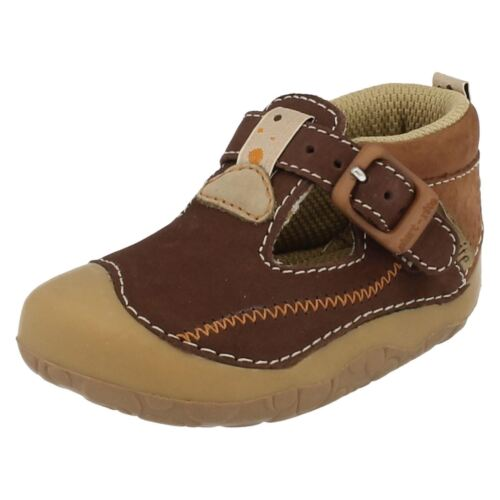 Tiny Boys Start Rite Pre Walk Shoes Soft Sole Buckle Fastening First Shoe