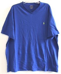 Polo-Ralph-Lauren-Big-and-Tall-Mens-1XB-Blue-Cotton-V-Neck-T-Shirt-NWT-Size-1XB