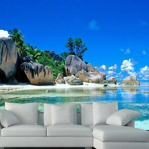 Image Is Loading 3D 140cm Sky Beach Sea Island Wallpaper Bedroom  Part 46