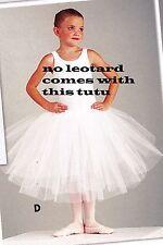 "NWT ROMANTIC BALLET SKIRT TUTU White small child sizes 3 layer  #4556 18"" long"