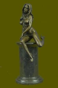 Bronze-sculpture-Sensual-Female-Nude-Erotica-Woman-Girl-statue-by-Mavchi-Sale