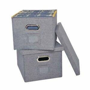 Atbay File Storage Box With Lids Large