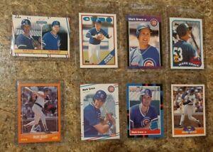 8-Mark-Grace-1988-1989-Score-Donruss-Fleer-Topps-Rookie-Card-Lot-RC-Cubs