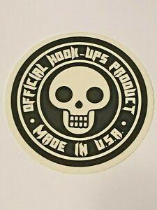 Hook-Ups-HOOK-UPS-Vintage-Skateboard-Sticker-Original-Genuine-Series-122181319