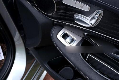 4*Matt Interior Door Armrest Cover Trim for Mercedes Benz C Class W205 2014-2019