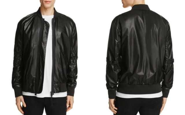 0a199d3a6 Helmut Lang Mens Lamb Leather Bomber Jacket Medium Regular