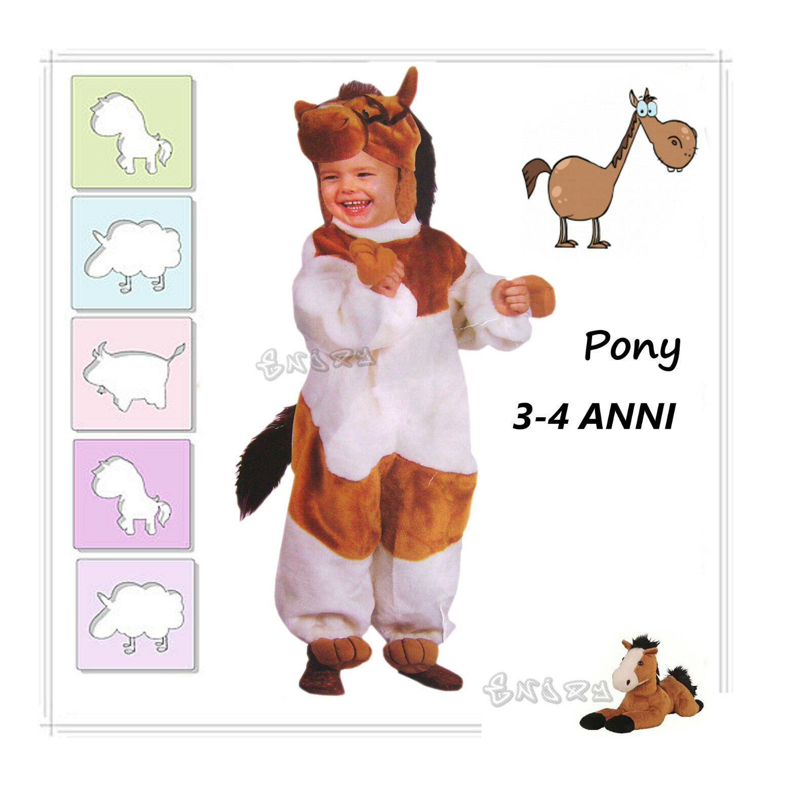 Carnival Dress Pony Costume Pony 3 - 4 Ages
