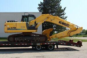 2013-Kobelco-SK170-Mark-9-Excavator-SK170-9-Towmaster-T40-Equipment-Trailer