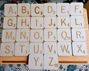 Large 9.5cm (W) x 9.5cm (H) x 0.3cm (D) MDF Scrabble Letter Pieces - Crafts