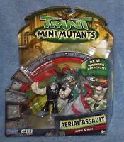 Tmnt Mini Mutants 2008 Aerial Assault Raph & Hun Set