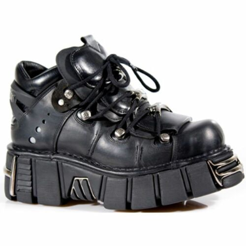 Leather Buckle Metallic Boots s1 Newrock Zip Black 106 Knee Goth High New Rock PqxSpxwvU