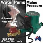Hot Water Shower AUTOMATIC On Off Booster Pump Gravity Fed System 240 V