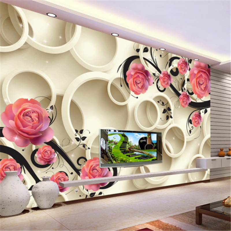 3D Gelb Ring Flowers 6 Wallpaper Mural Paper Wall Print Wallpaper Murals UK