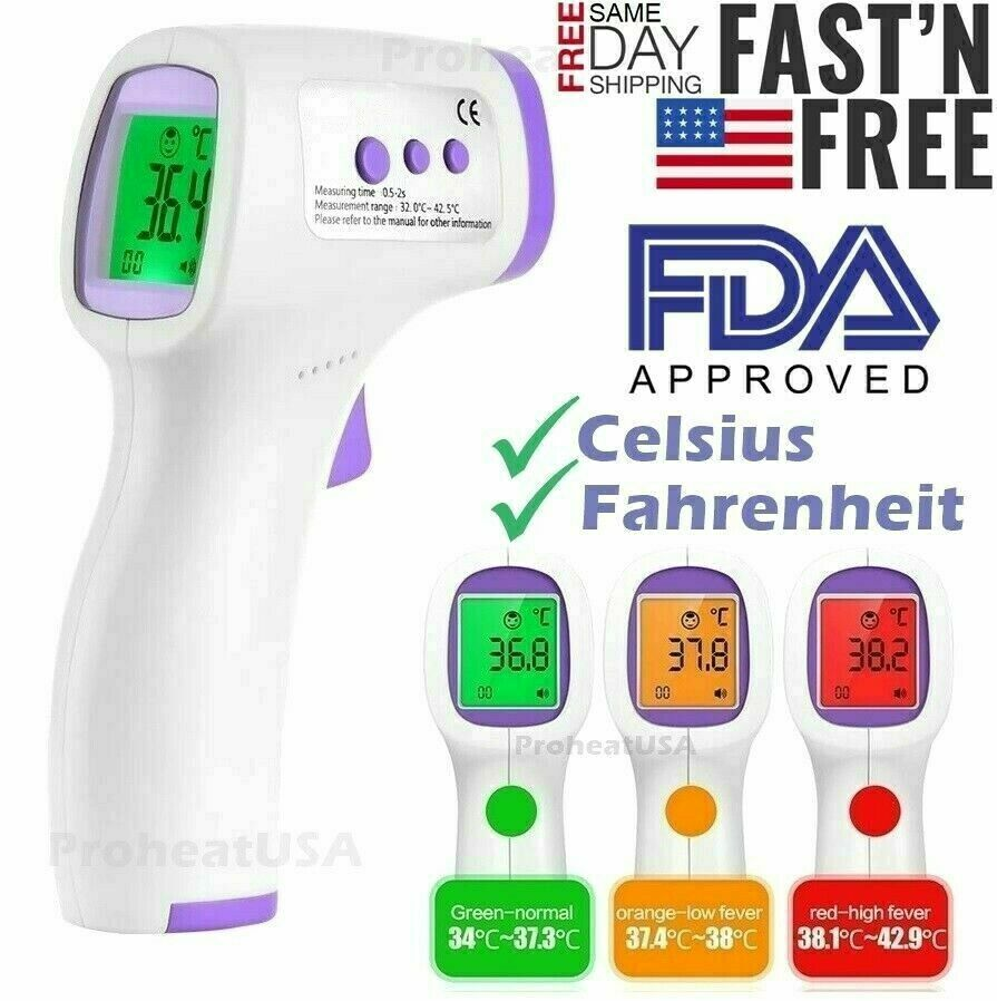 Digital Infrared Forehead Thermometer Non-Contact Baby //Adult Body Termometer SN