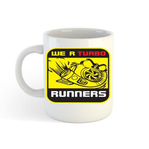 Bedruckt Kaffee Tasse Tasse 300ml WE ARE Turbo Läufer Logo 313ml