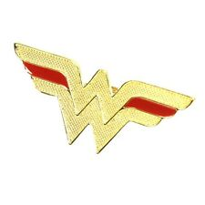 Official Wonder Woman Gold Logo Fashion Statement Ring - DC Comics One Size New