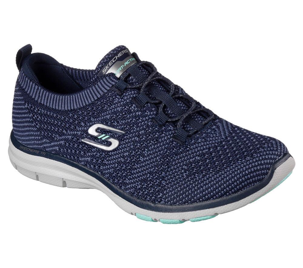e4cd0e108f7 Nuevo señora Skechers sneakers marca de zapatillas bungee cordones memory  foam Galaxies azul