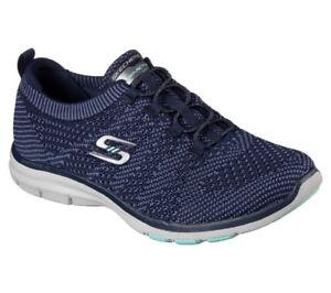 Details zu NEU SKECHERS Damen Sneakers Turnschuh Bungee Schnürung Memory Foam GALAXIES Blau