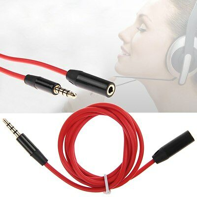 3.5mm Male to Female 4 Pole Jack Stereo Headphone Audio Extension Cable Cord US