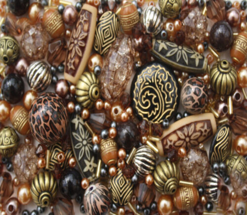 Large Pack of Bronze Jewellery Making Beads  80g
