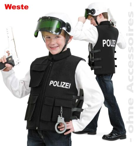 Polizeieinsatzweste schwarz 128-140 Polizist Kostüm Karneval Fasching 1211063G13