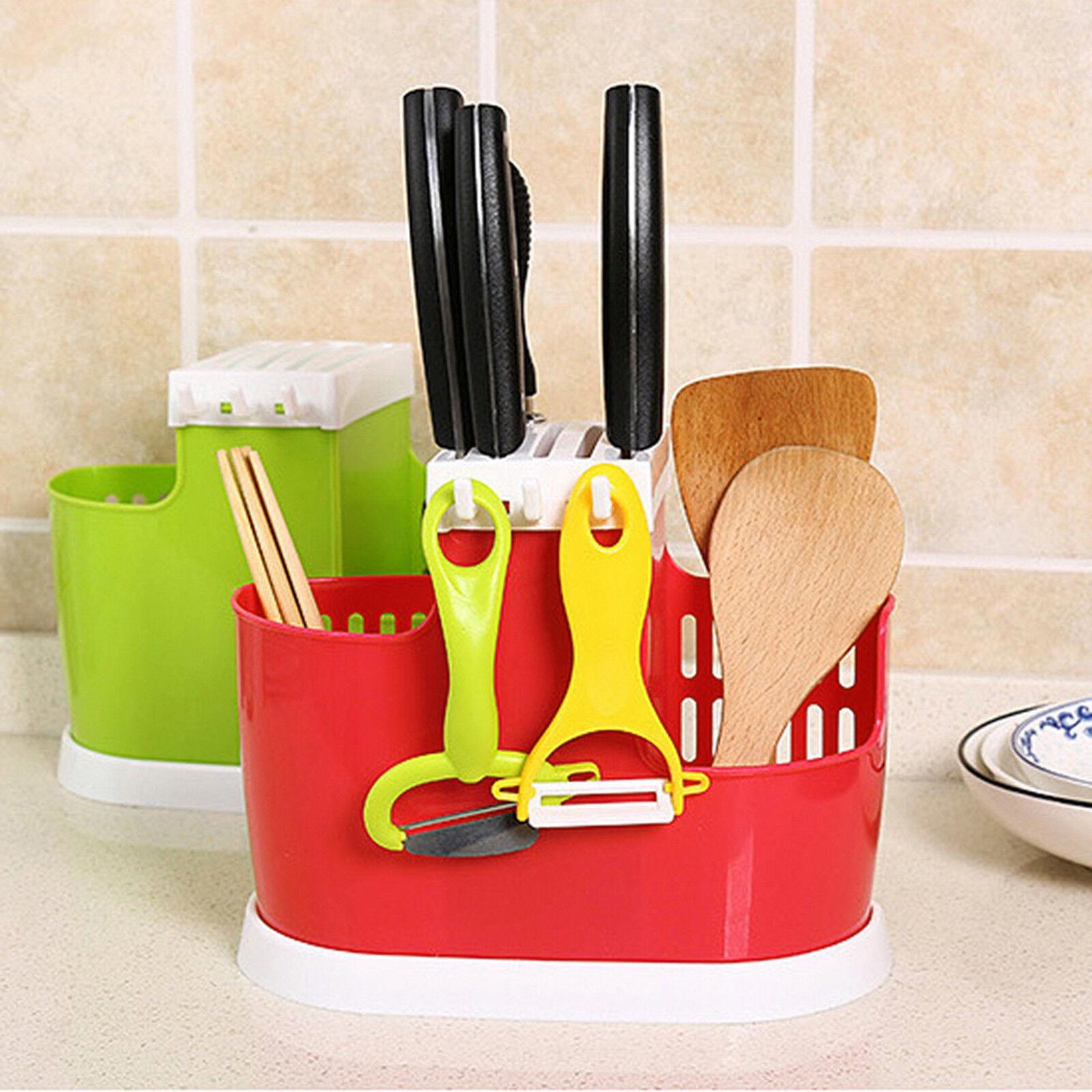 Kitchen Spoon Chopsticks Fork Draining Rack Storage Tool Holder Organizer LP