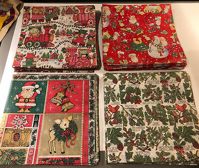 Vintage Cleo Christmas Wrapping Paper Christmas Village Real Photo Paper Vintage Christmas Gift Wrap One Flat Sheet