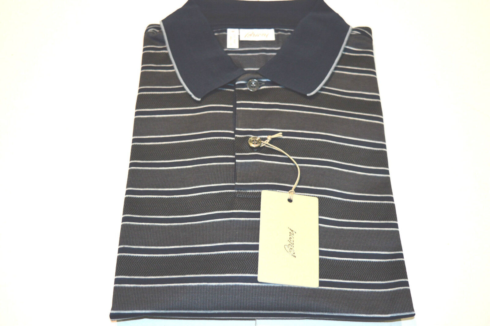 NEW  BRIONI Polo  Short Sleeve Cotton Größe 3XL Us Eu 58 (SpRiDoA)