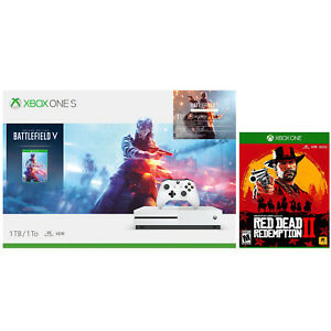 Xbox One S 1TB Battlefield V Console + Red Dead Redemption 2 Bundle