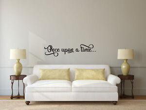 Image Is Loading Once Upon A Time Vinyl Decal Wall Art