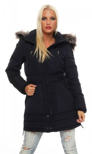 Only-New lana Down Coat Parka-Blu Donna Giacca