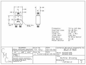 Power-Divider-SMA-2-Way-CMCI-7SP301-2-7-0-14-5-GHz
