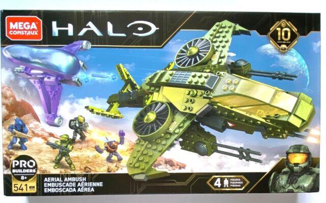 Halo Aerial Ambush Mega Construx GGF83 Pro Builders 541PCS 4 Figures 8+ 10Years