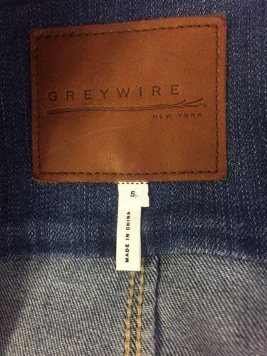 denim in maniche Giacca Greywire 2 taglia piccola afflosciate tasche tasche 4 arrotolate xEFqqTw