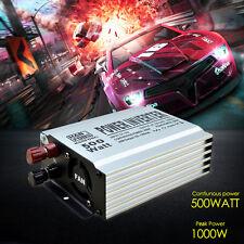 500W/1000W Vehicle Pure Sine Wave Power Inverter DC 12V AC 210/220V 240V Freezer