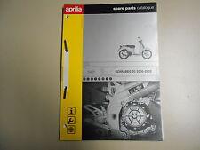 Teile Katalog spare parts catalogue Aprilia Scarabeo 50 (Modell 2000-2002)
