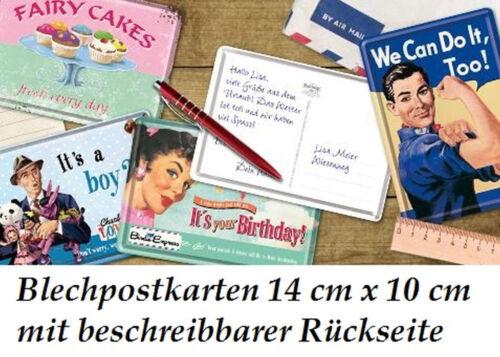 Métal Good Luck Ramoneur Beaucoup Bonheur Nostalgic Art Carte Postale en Tôle