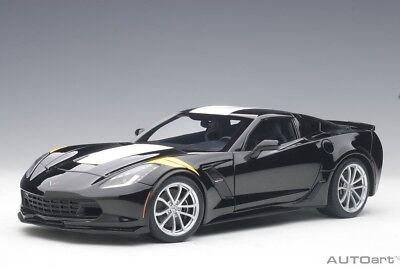 2017 White Corvette >> 2017 Chevrolet Corvette C7 Grand Sport Black White Stripe 1 18 By Autoart 71273 Ebay