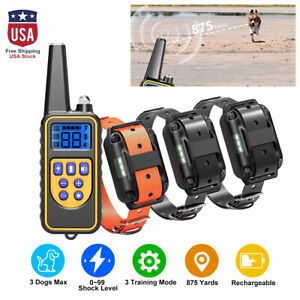 2600 FT Dog Training Collar Rechargeable Remote Shock PET Waterproof Trainer